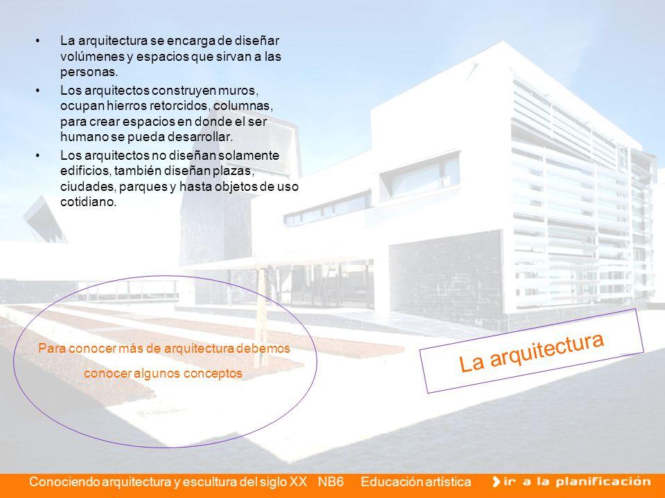 La arquitectura se encarga de diseñar volúmenes y espacios que sirvan a las personas.