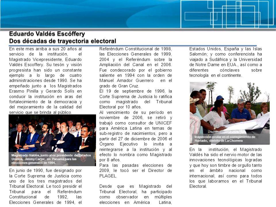 Eduardo Valdés Escóffery Dos décadas de trayectoria electoral
