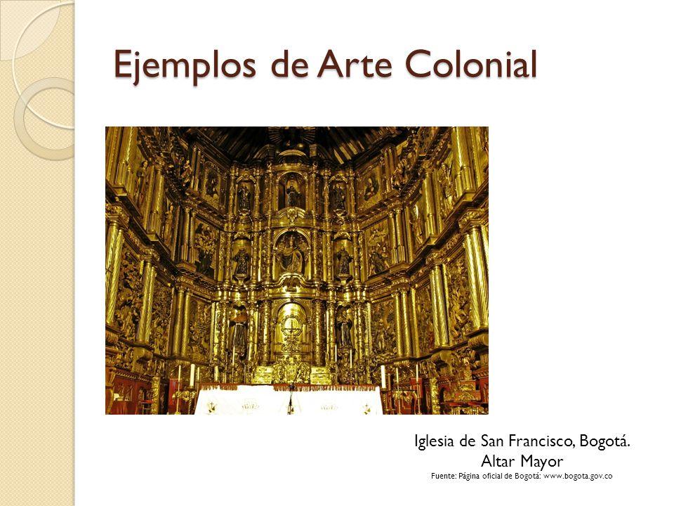 Ejemplos de Arte Colonial