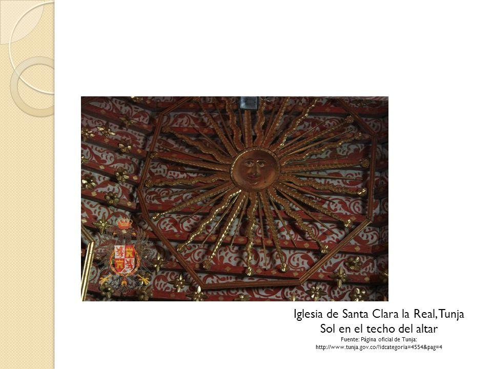 Iglesia de Santa Clara la Real, Tunja Sol en el techo del altar