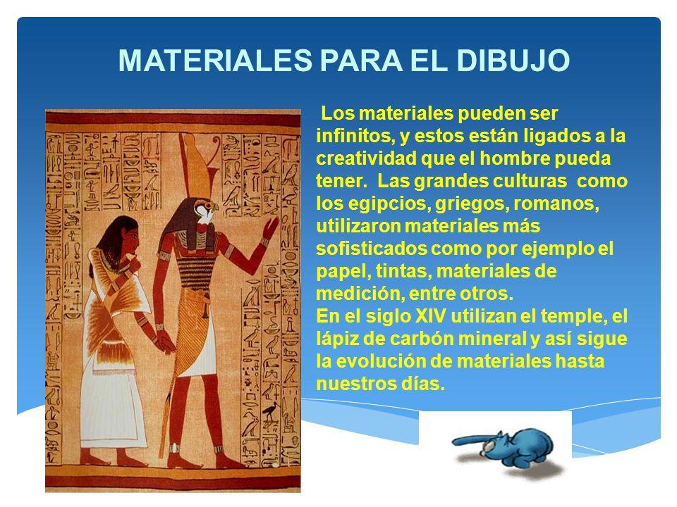 MATERIALES PARA EL DIBUJO