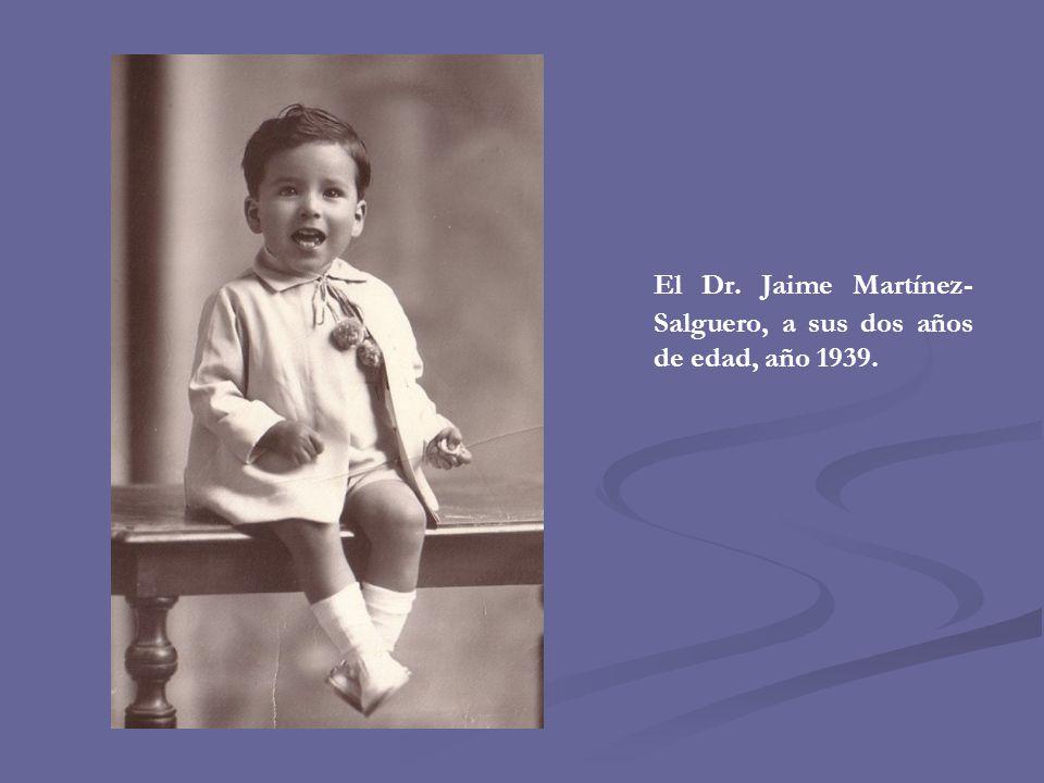 El Dr. Jaime Martínez-Salguero, a sus dos años de edad, año 1939.