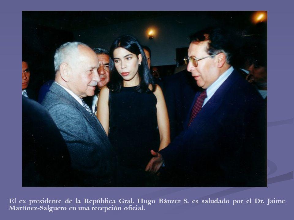 El ex presidente de la República Gral. Hugo Bánzer S