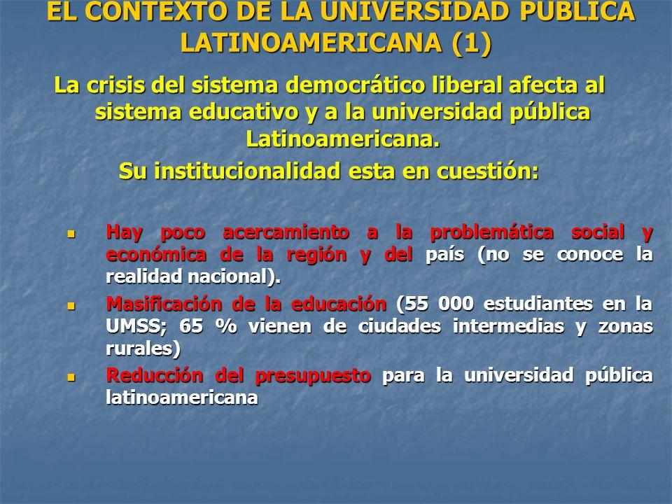 EL CONTEXTO DE LA UNIVERSIDAD PÚBLICA LATINOAMERICANA (1)
