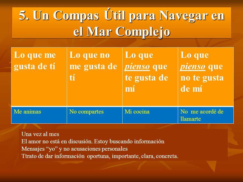 5. Un Compas Útil para Navegar en el Mar Complejo