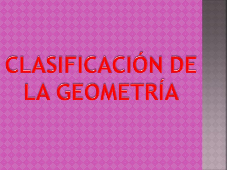 CLASIFICACIÓN DE LA GEOMETRÍA