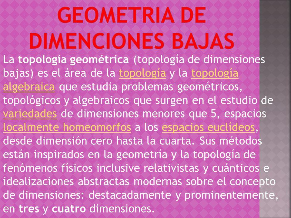 GEOMETRIA DE DIMENCIONES BAJAS