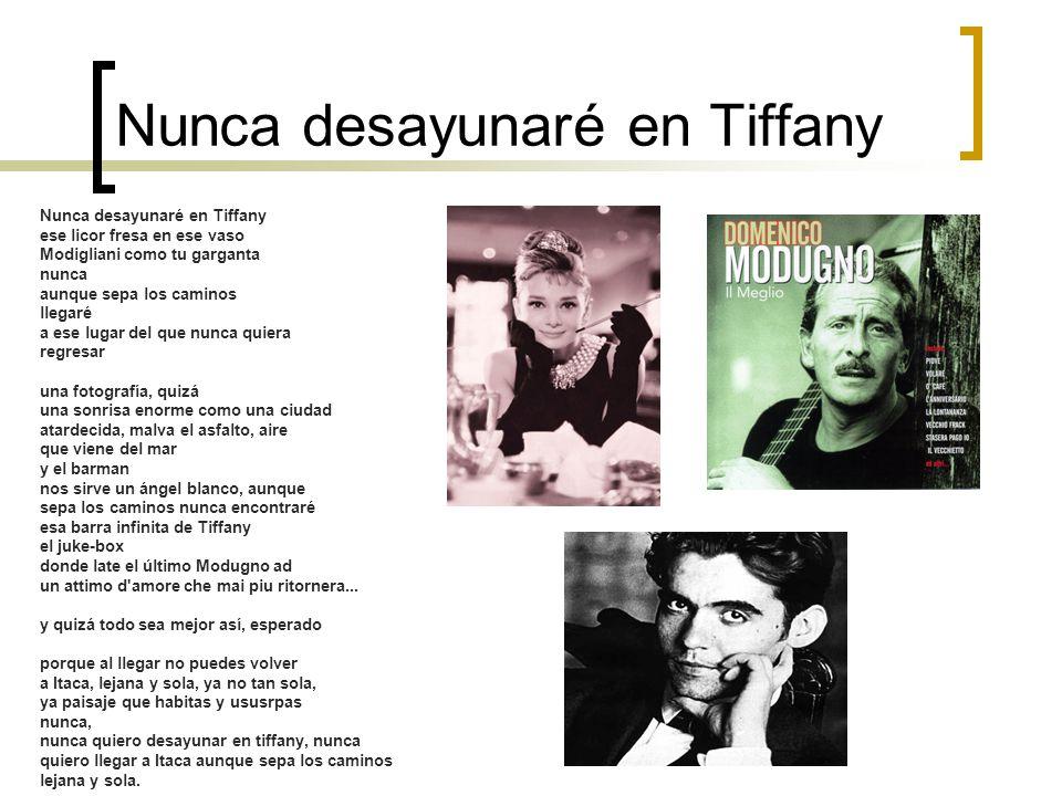 Nunca desayunaré en Tiffany