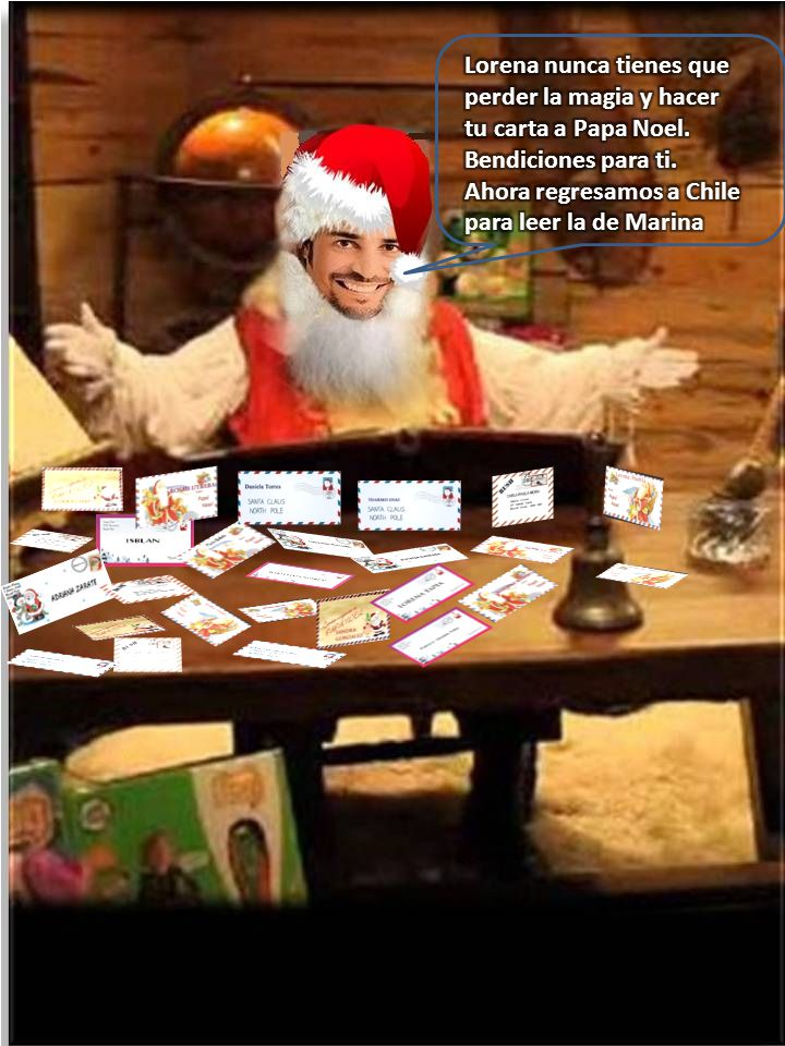 Lorena nunca tienes que perder la magia y hacer tu carta a Papa Noel
