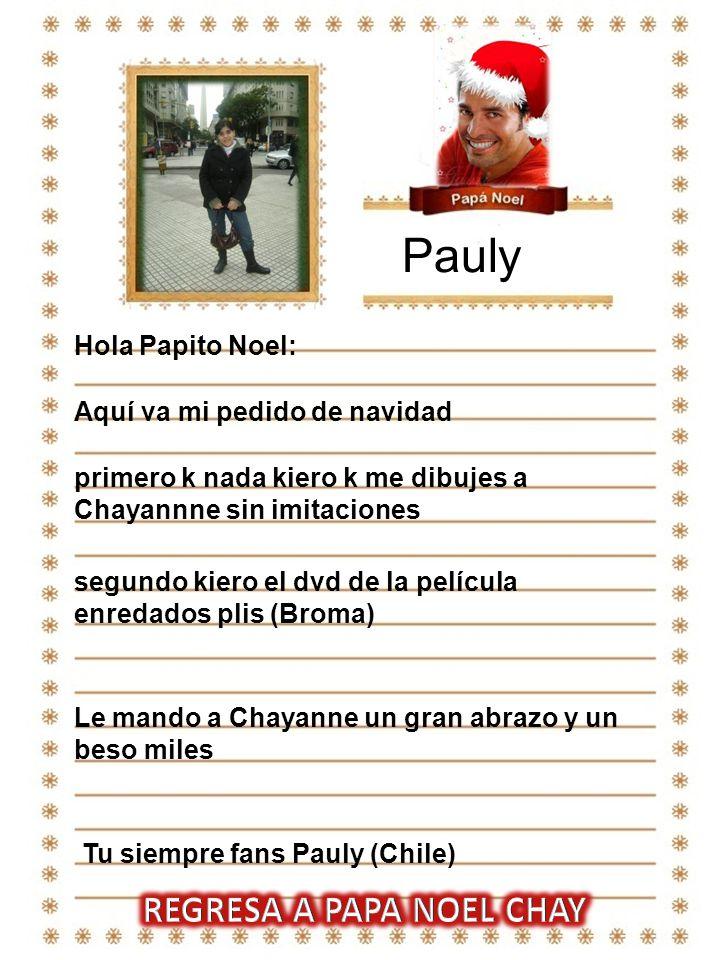 REGRESA A PAPA NOEL CHAY