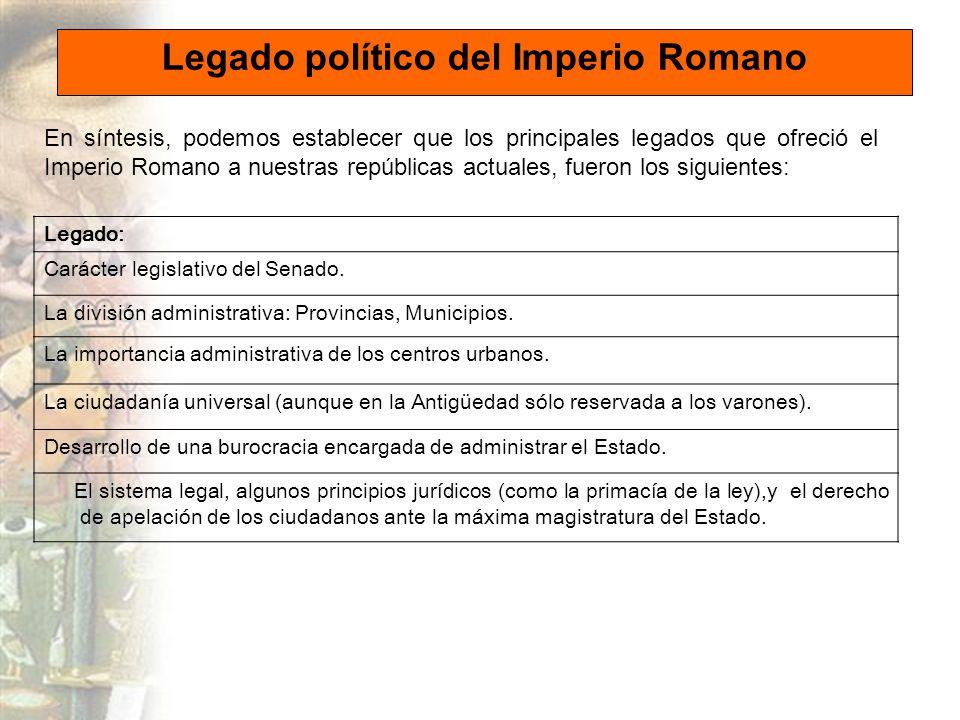 Legado político del Imperio Romano