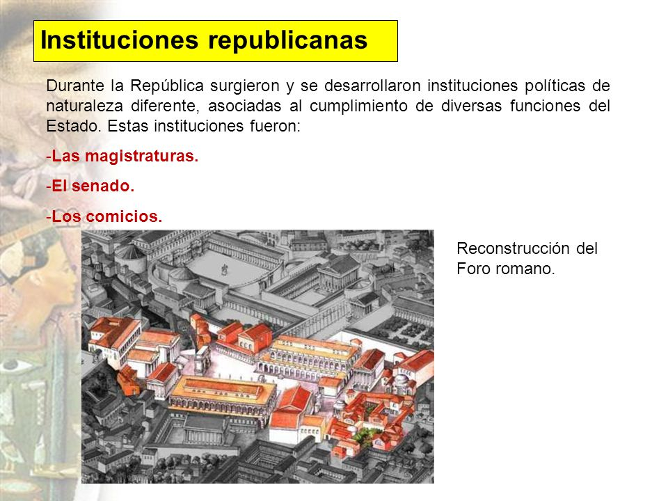 Instituciones republicanas