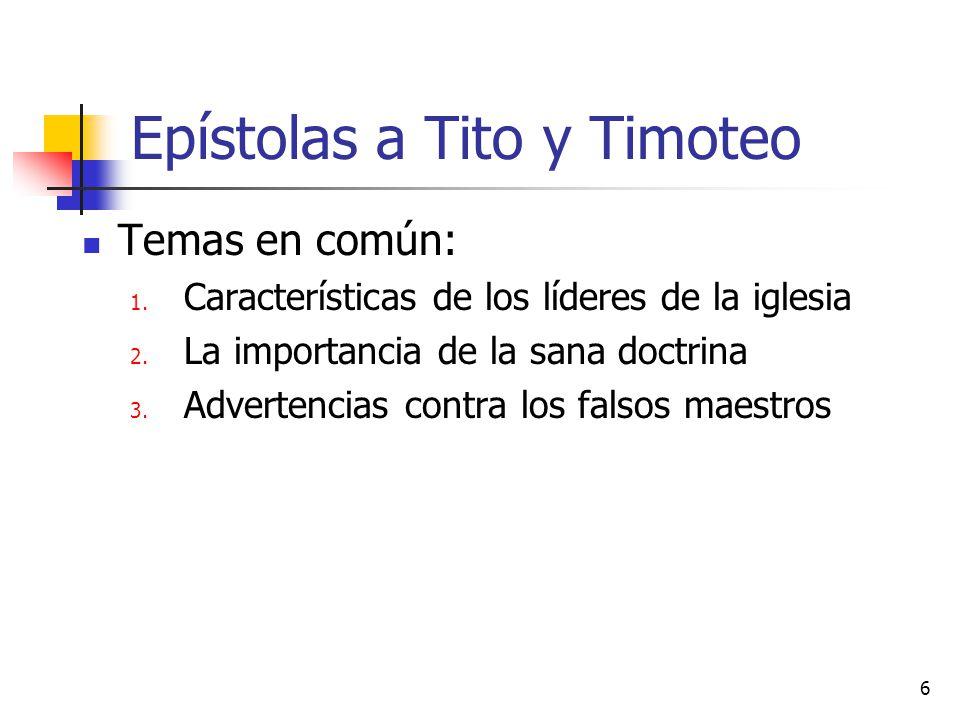 Epístolas a Tito y Timoteo