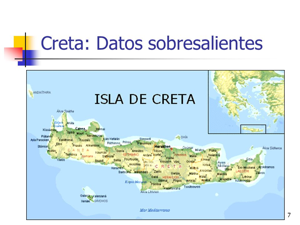 Creta: Datos sobresalientes