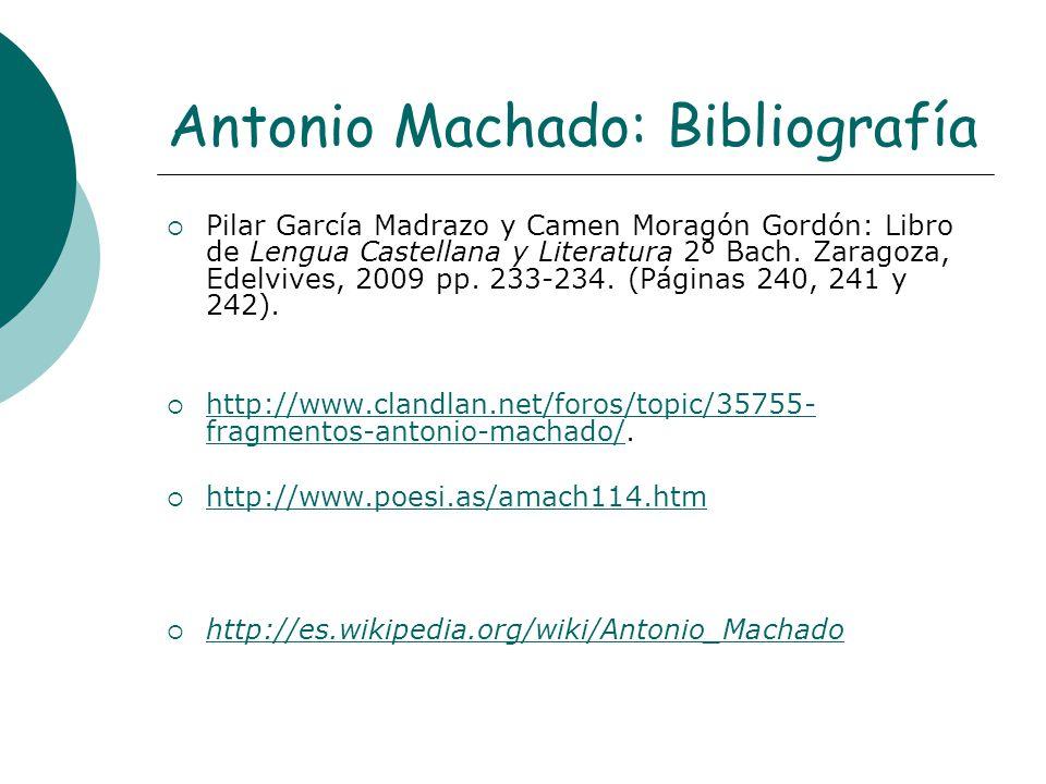 Antonio Machado: Bibliografía