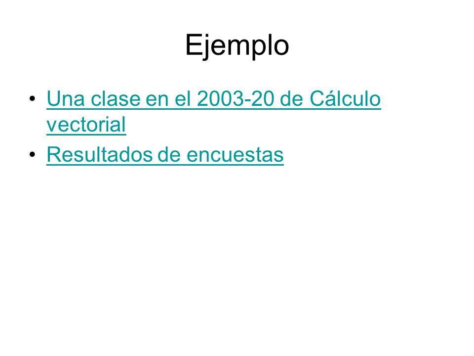 Ejemplo Una clase en el 2003-20 de Cálculo vectorial