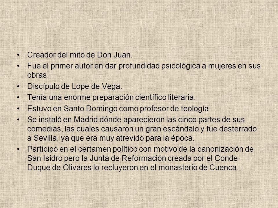 Creador del mito de Don Juan.
