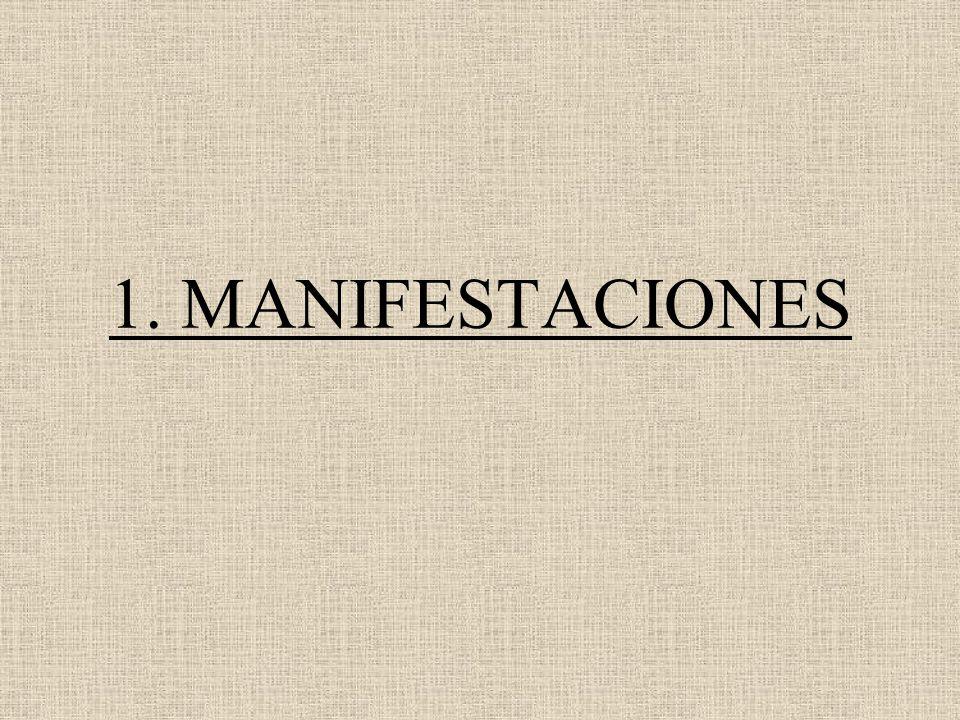 1. MANIFESTACIONES