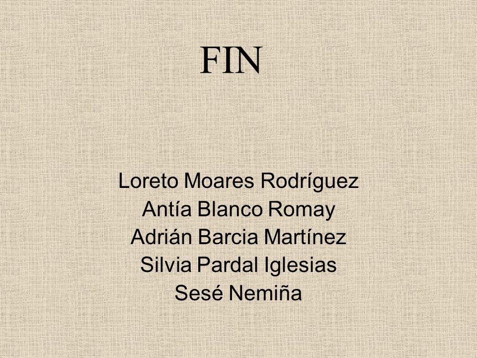 FIN Loreto Moares Rodríguez Antía Blanco Romay Adrián Barcia Martínez