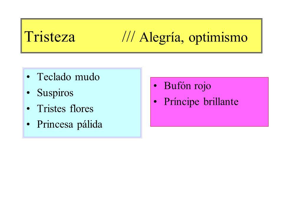 Tristeza /// Alegría, optimismo