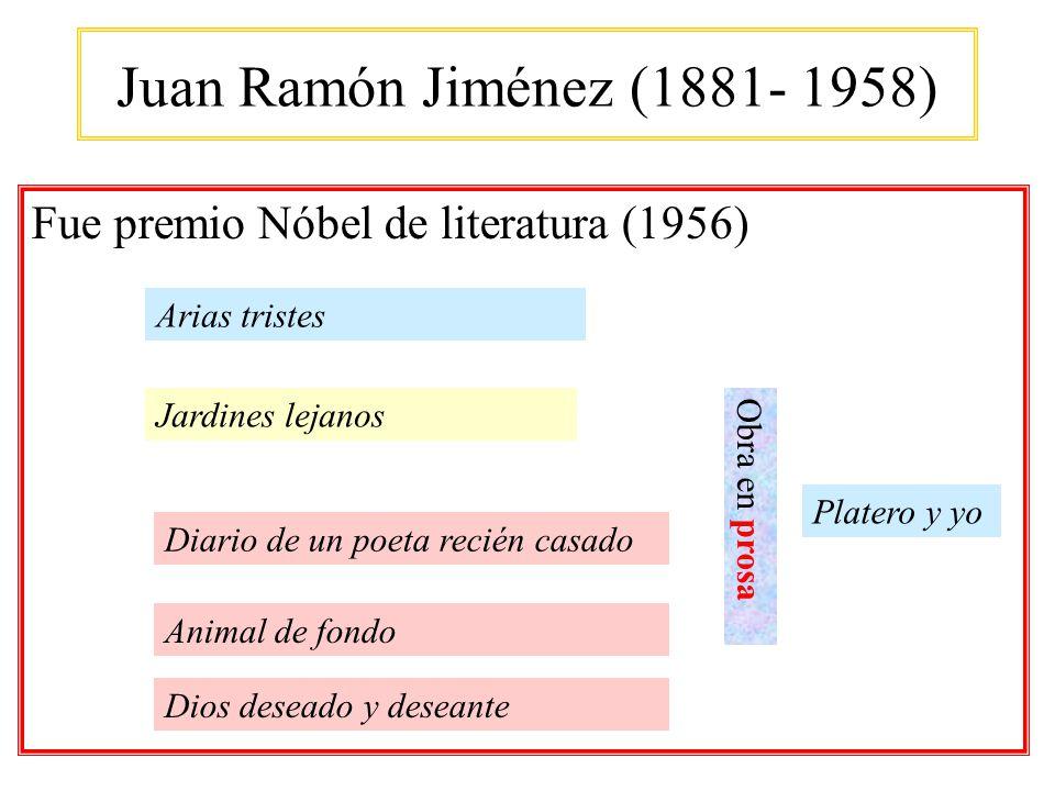 Juan Ramón Jiménez (1881- 1958) Fue premio Nóbel de literatura (1956)
