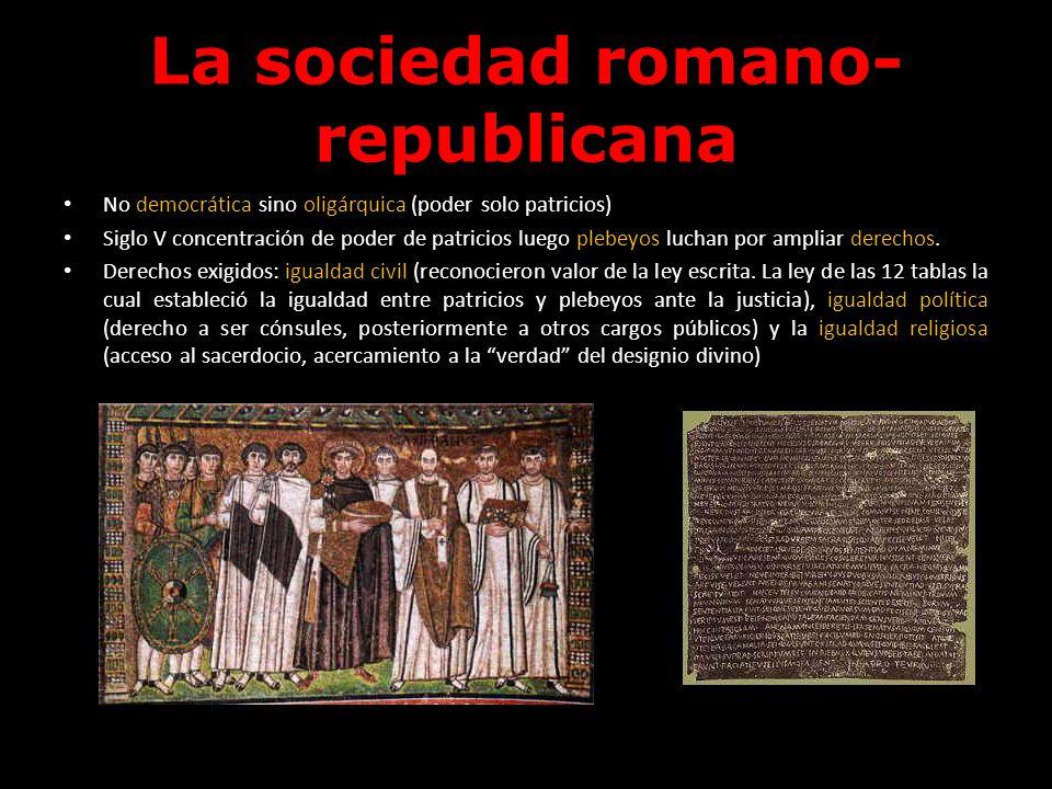 La sociedad romano-republicana