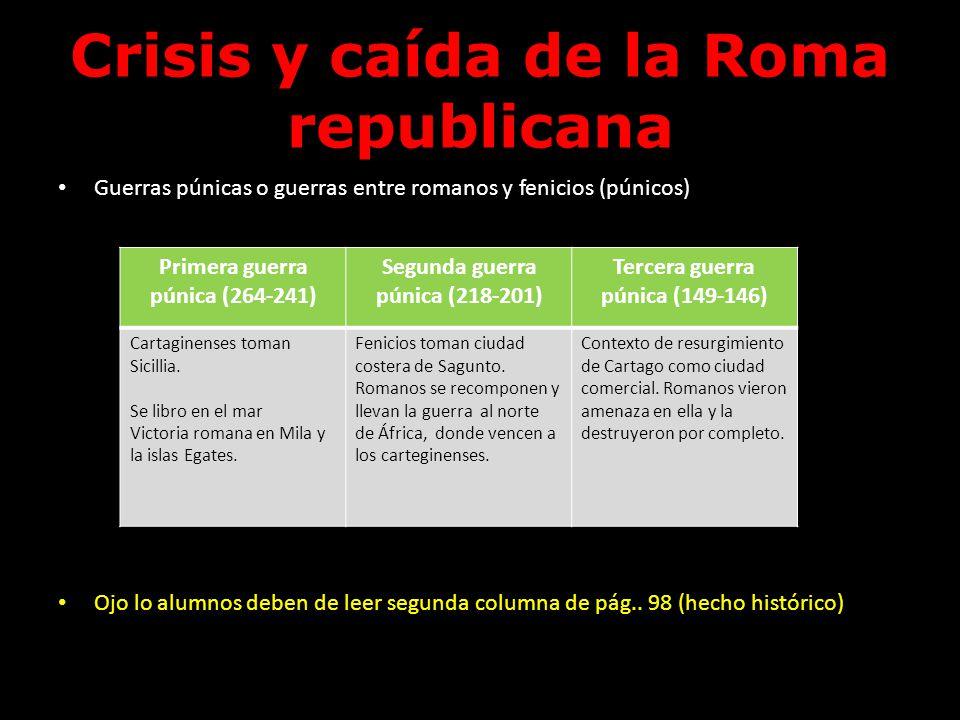 Crisis y caída de la Roma republicana