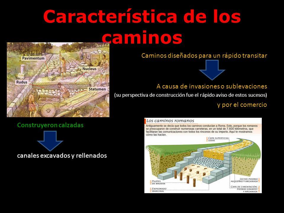 Característica de los caminos