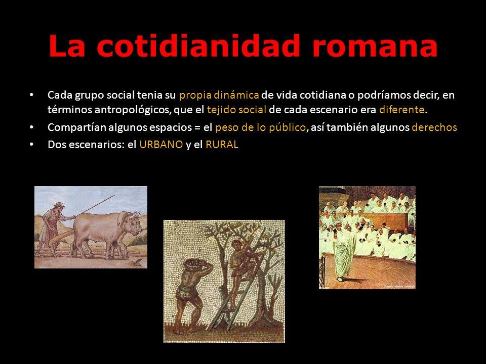 La cotidianidad romana