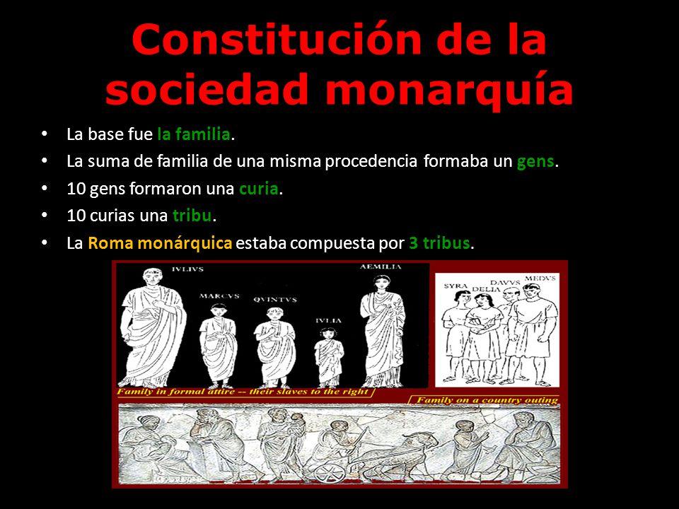 Constitución de la sociedad monarquía