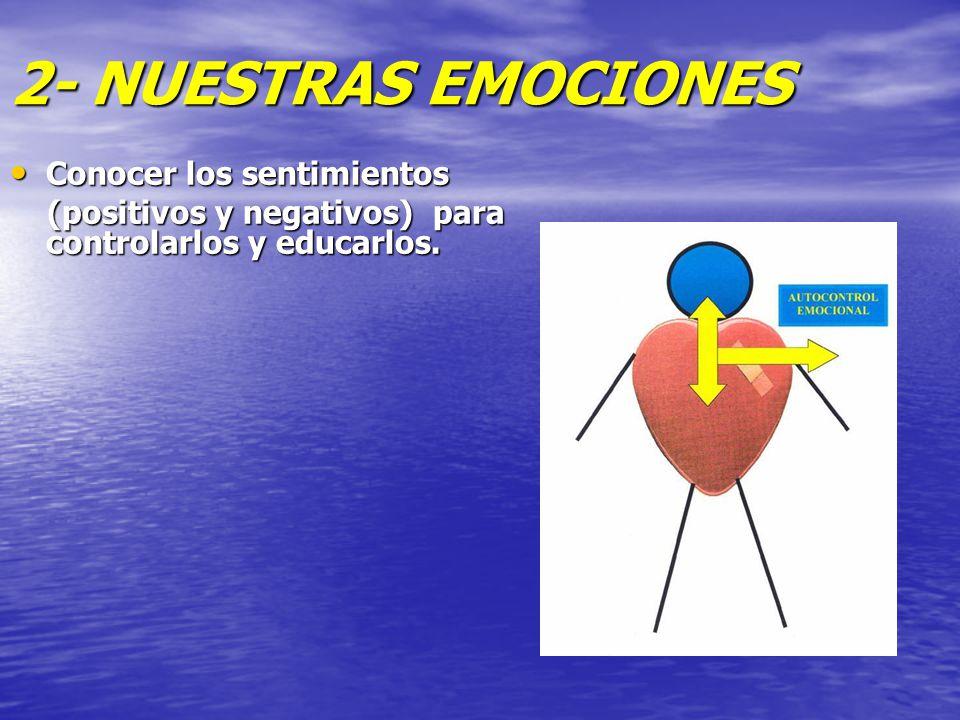 2- NUESTRAS EMOCIONES Conocer los sentimientos
