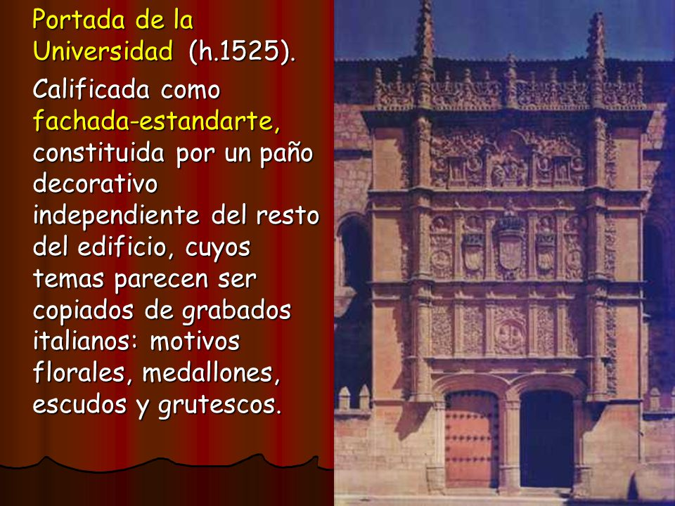 Portada de la Universidad (h.1525).