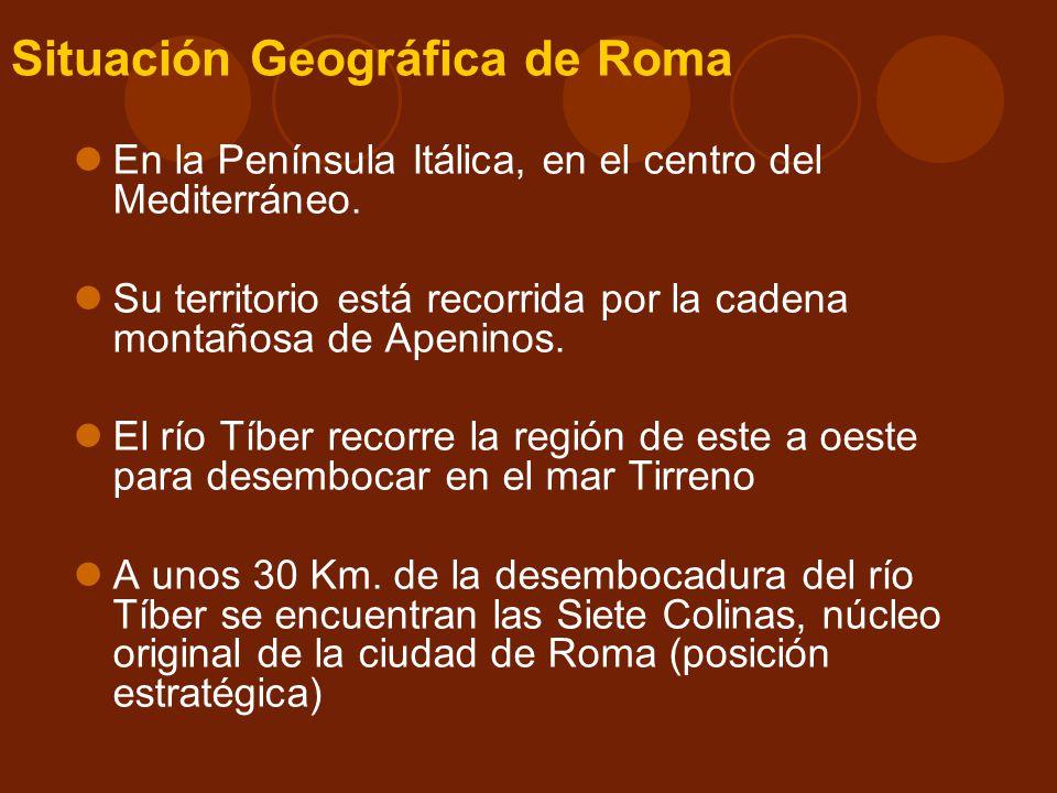Situación Geográfica de Roma