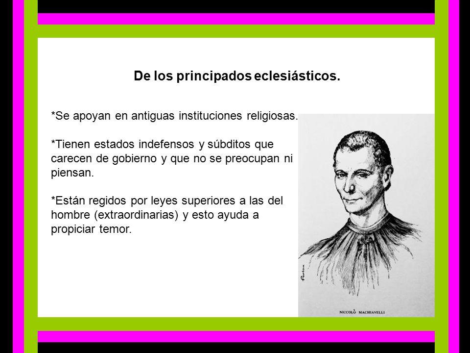 De los principados eclesiásticos.