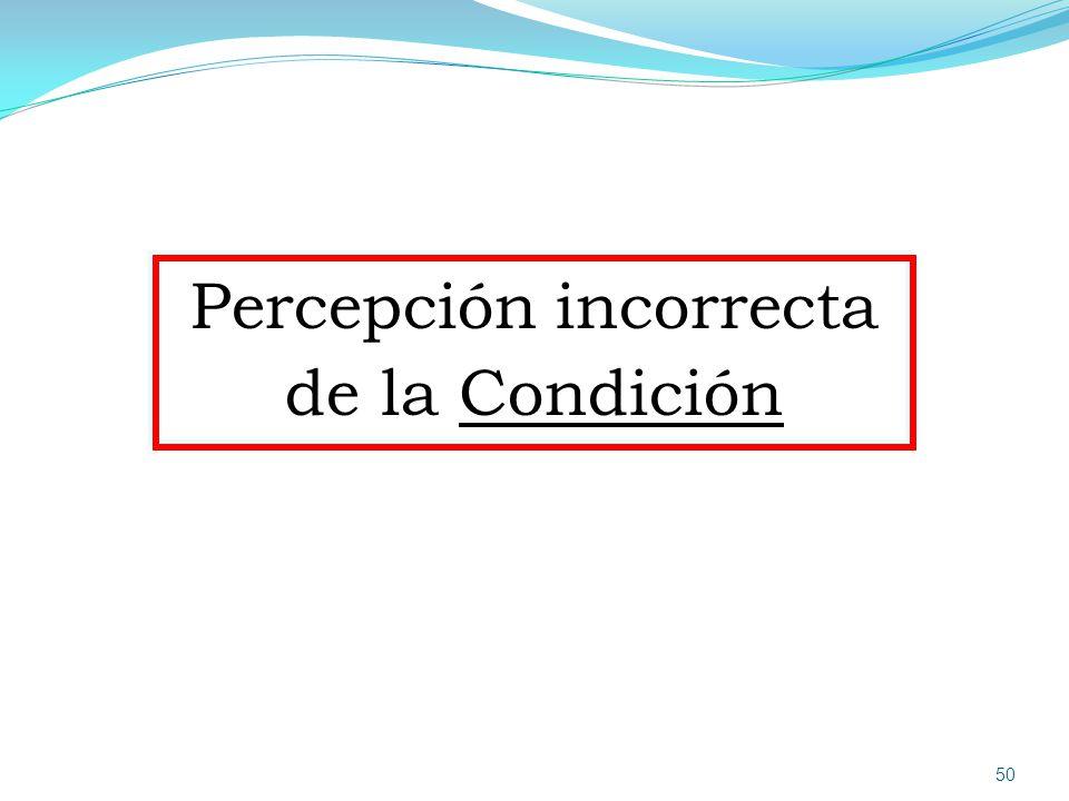 Percepción incorrecta de la Condición