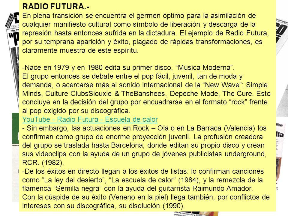 RADIO FUTURA.-