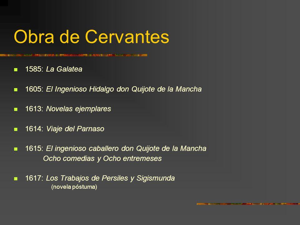 Obra de Cervantes 1585: La Galatea