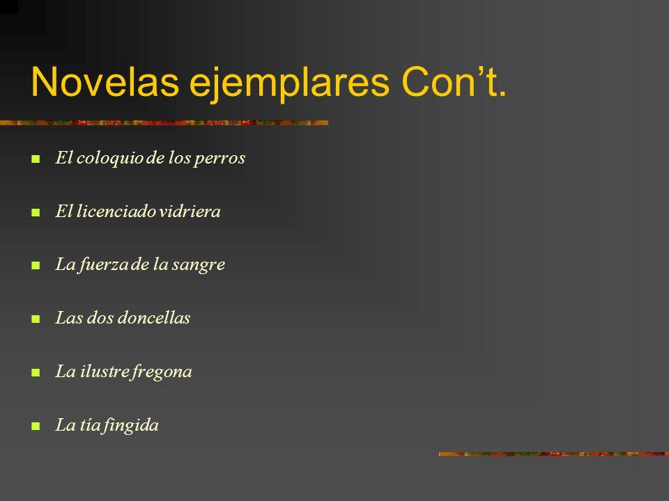 Novelas ejemplares Con't.