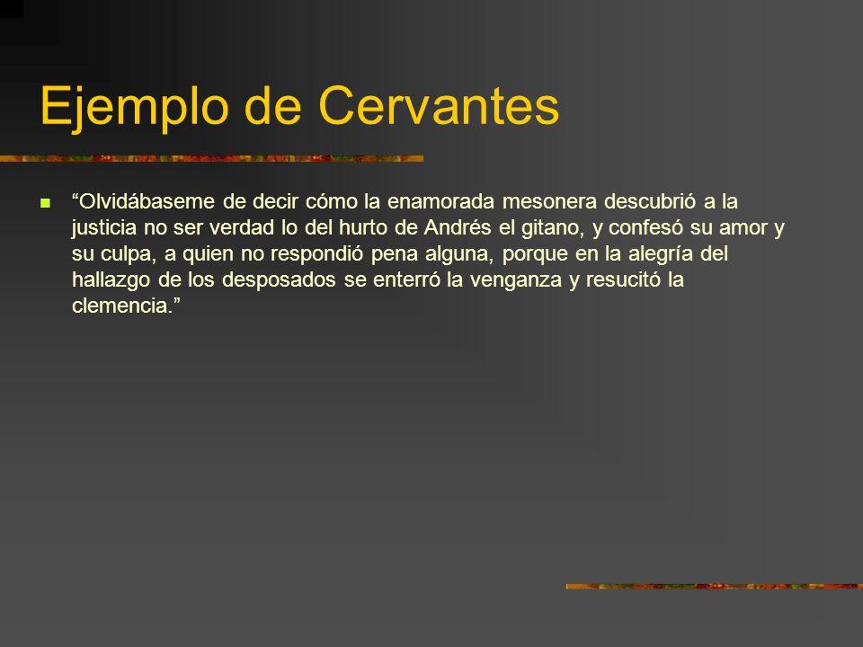 Ejemplo de Cervantes