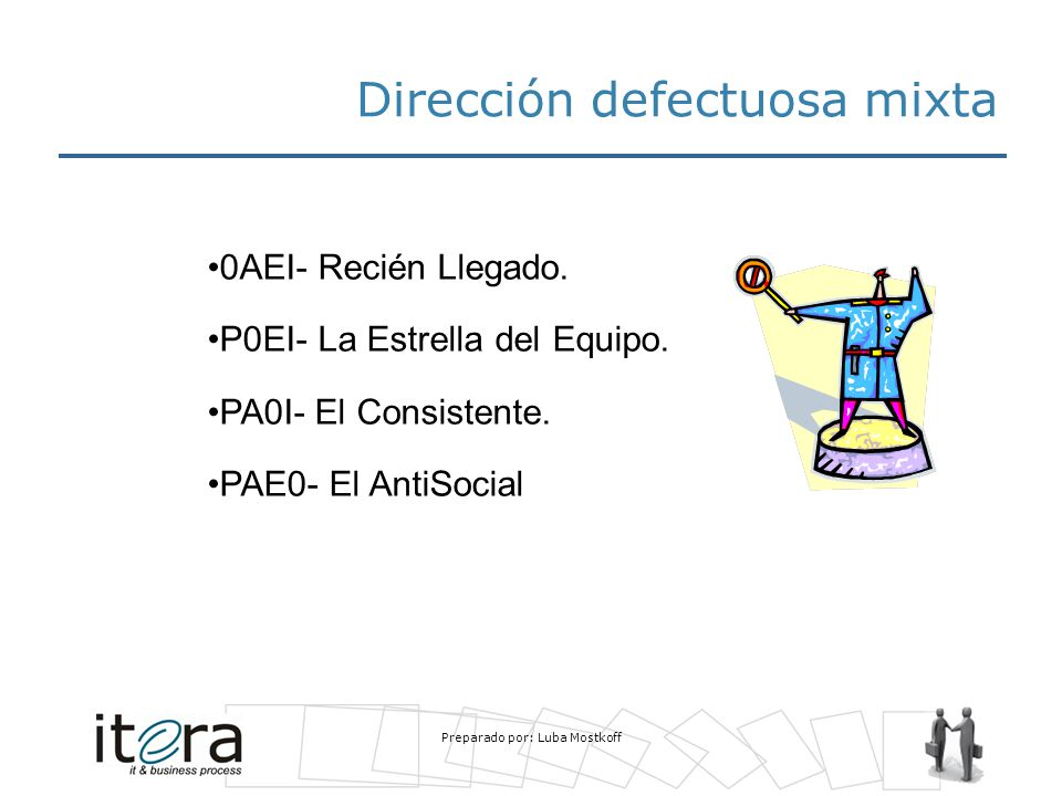 Dirección defectuosa mixta