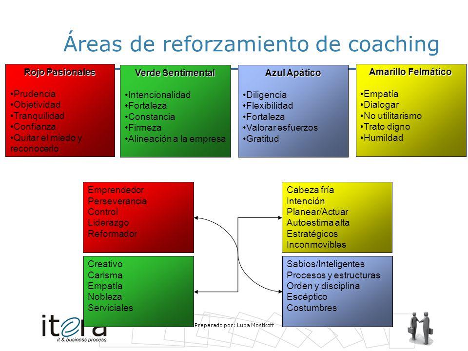 Áreas de reforzamiento de coaching