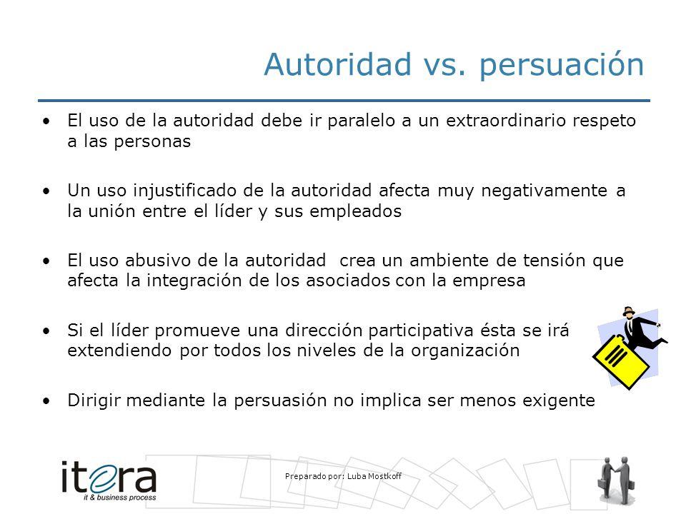 Autoridad vs. persuación
