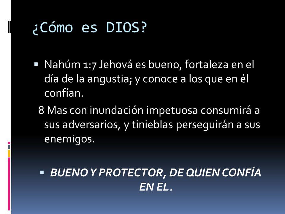 BUENO Y PROTECTOR, DE QUIEN CONFÍA EN EL.