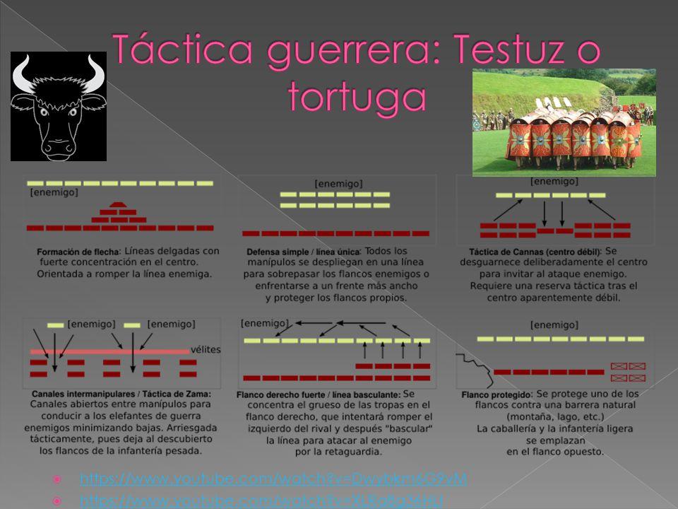 Táctica guerrera: Testuz o tortuga