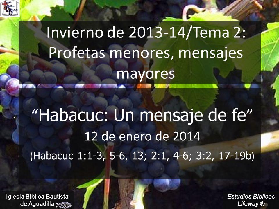 Invierno de 2013-14/Tema 2: Profetas menores, mensajes mayores