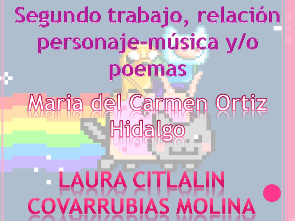 Segundo trabajo, relación personaje-música y/o poemas