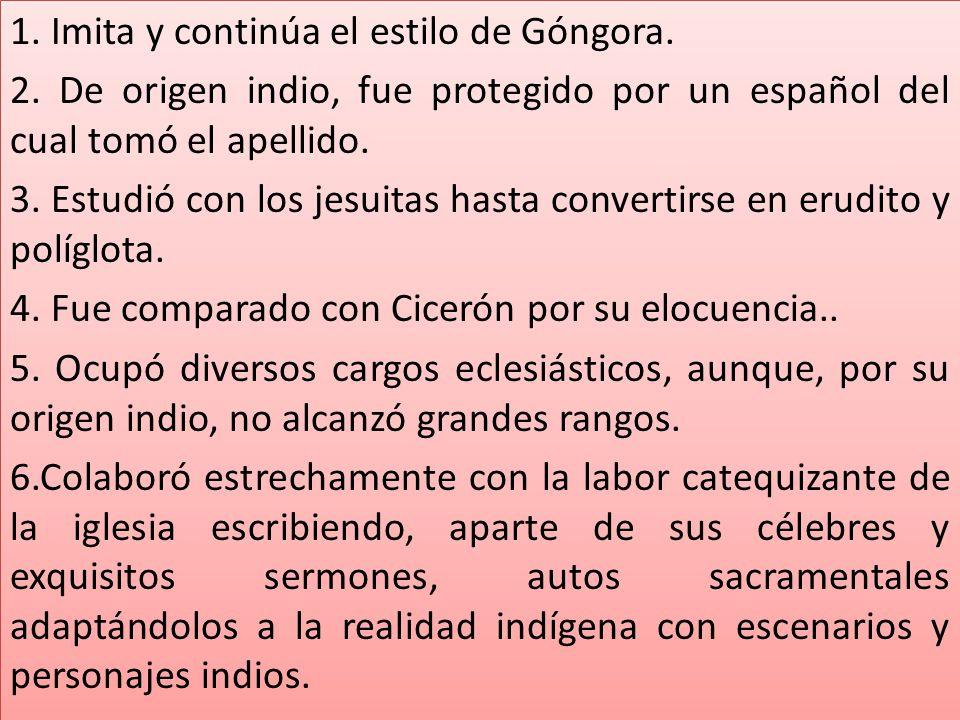 1. Imita y continúa el estilo de Góngora. 2