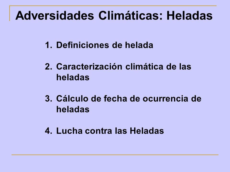 Adversidades Climáticas: Heladas