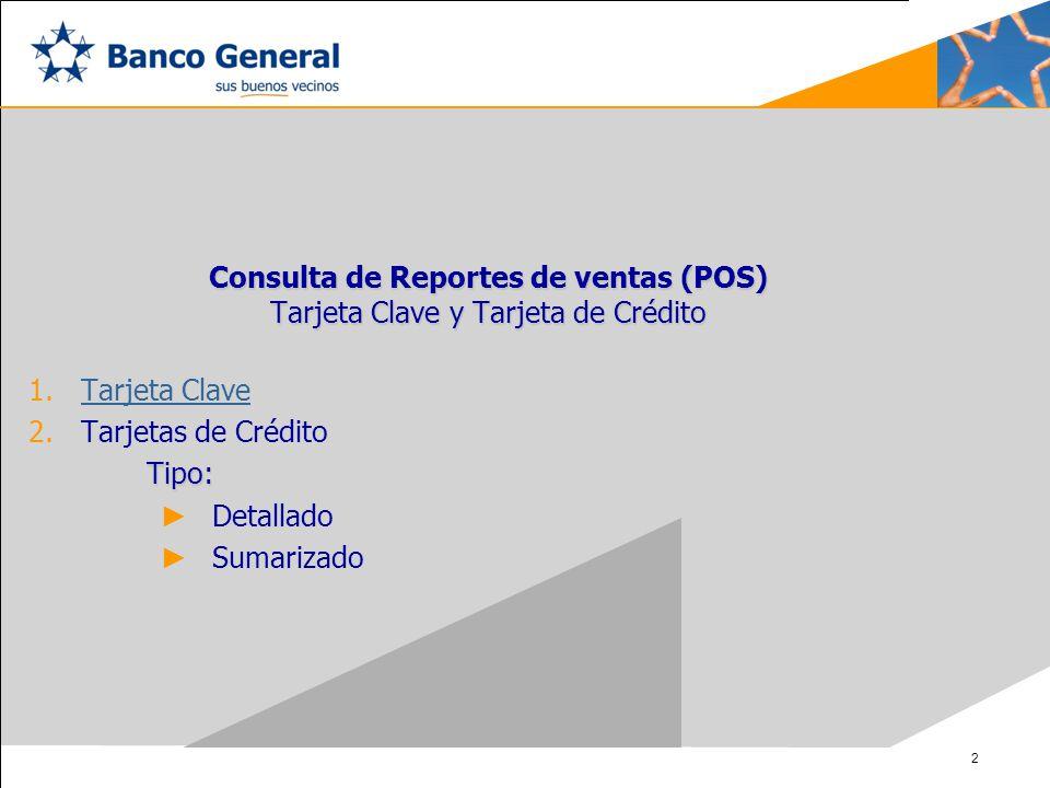 Consulta de Reportes de ventas (POS)