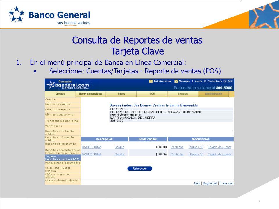 Consulta de Reportes de ventas